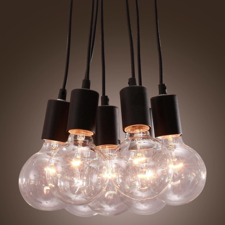 Vintage 09 Bulb Bundle Style 40W E27 Minimalist Pendant Chandelier ...