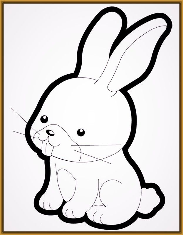 Grandiosos Dibujos Para Colorear Conejos Con Imagenes Dibujos
