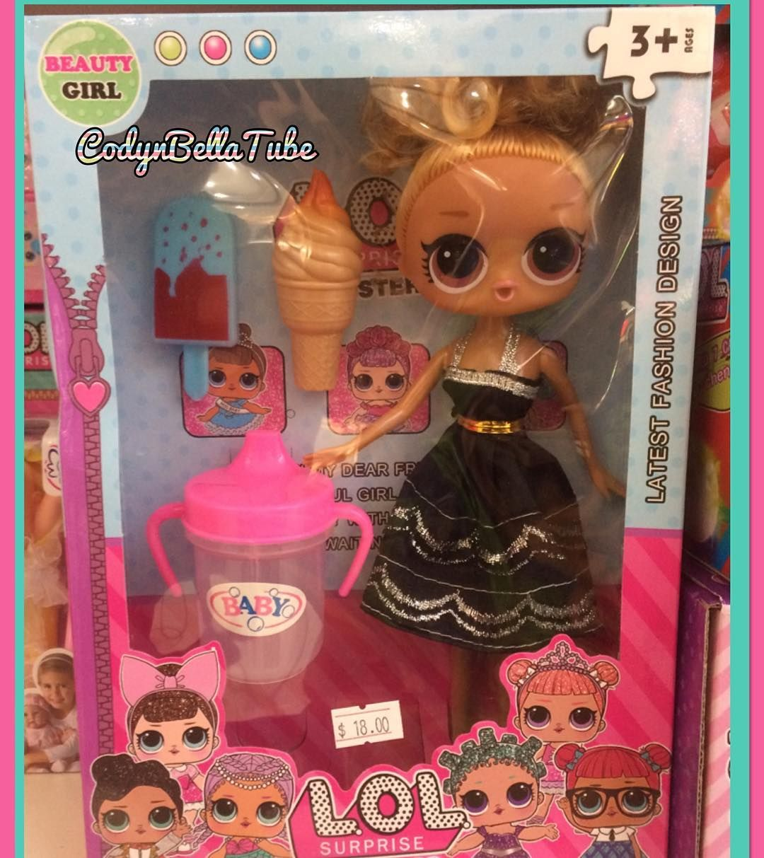 Fake Lol Doll Even Comes With A Baby Alive Bottle Lol Lolsurprise Lolsurpriseparty Lolsurprisedoll Lol Dolls Candy Land Birthday Party Baby Alive Dolls
