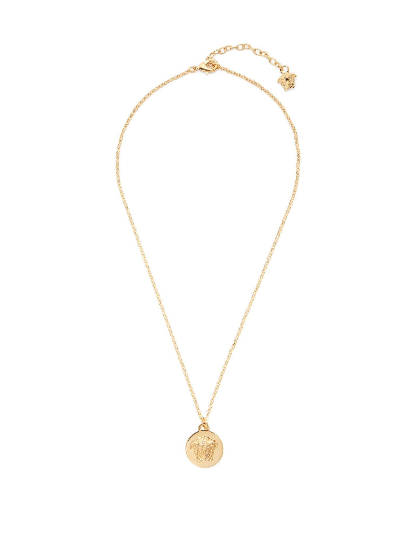gold necklace shop jewellery medusa serge pendant denimes