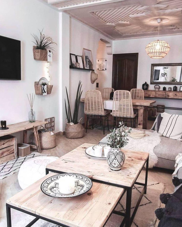 Transformez votre salon en un oasis boho. Pour un salon tendance