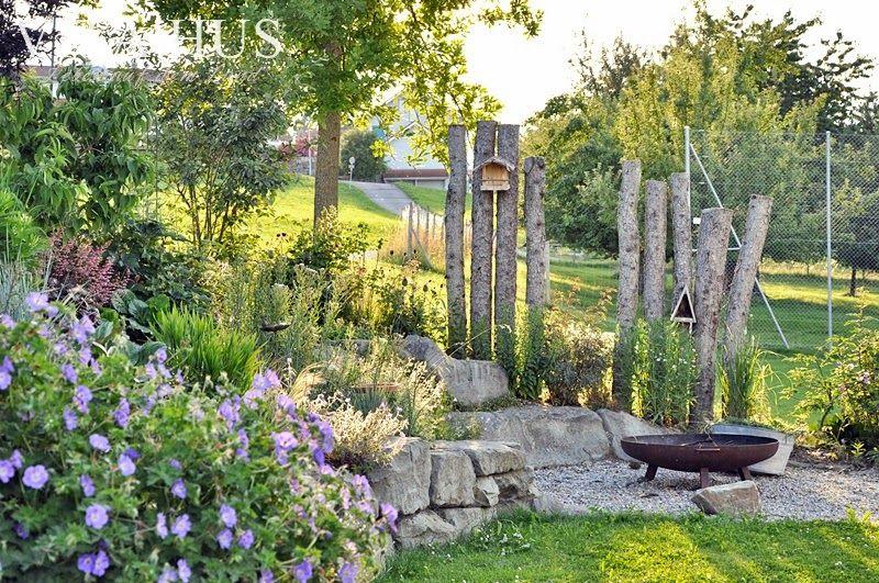 Kiesecke für die Feuerschale                                                                                                                                                      Mehr #vorgartenanlegen
