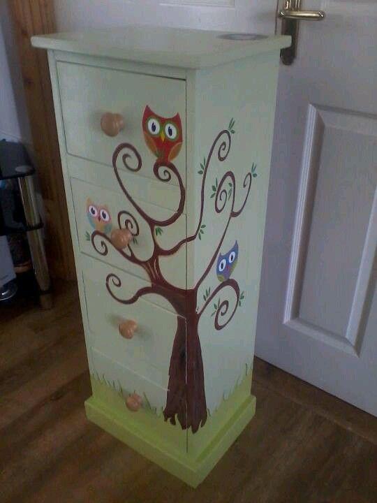 Owl dresser furniture kommode komode kommoden schubladen - Ausgefallene kindermobel ...