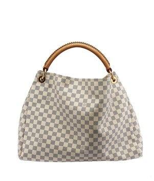 Artsy Gm Damier Azur 31767 Blue White Coated Canvas Hobo Bag
