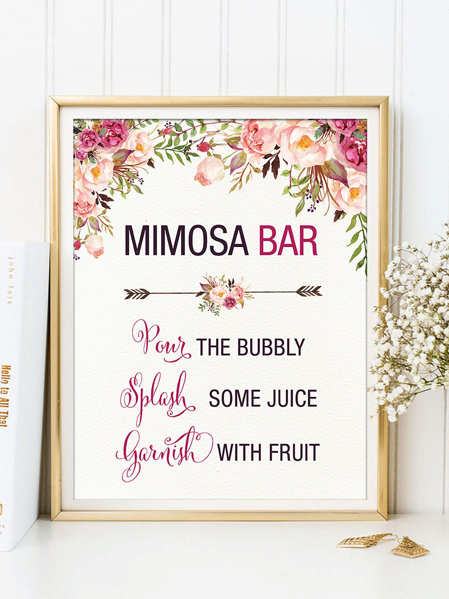 graphic regarding Free Printable Mimosa Bar Sign called 35 Bachelorette Social gathering Decorations That Are Enjoyable and