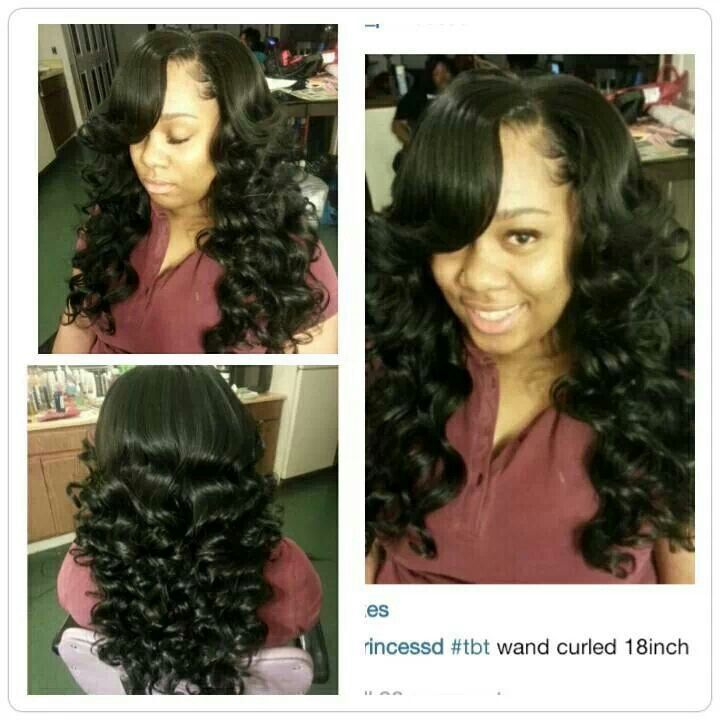 Beautiful Wand Curls Done On A Partial Sew In 2 Pks Outre Velvet