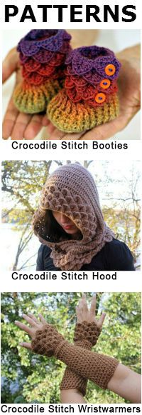 Reversible Textured Slouch and Crocodile Stitch Double Layered Flower | Bonita Patterns Blog