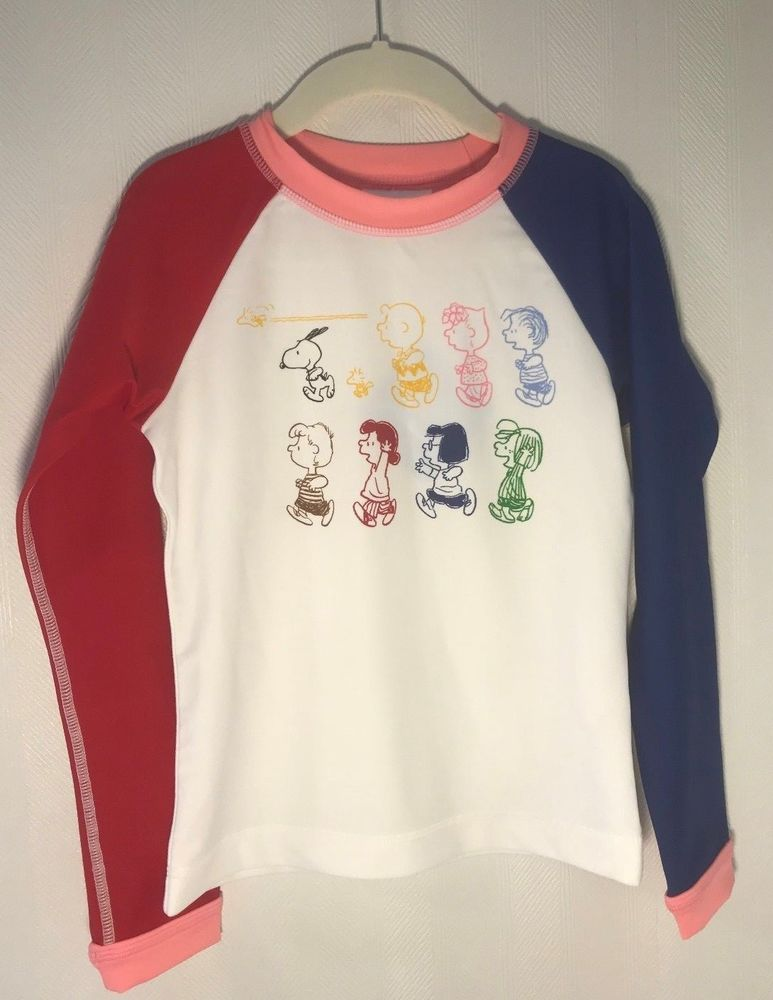 7d22e8e3a7d607 NWT Hanna Andersson L S Sunblock Snoopy Rash Guard Size 130 (US 8) OP  45   fashion  clothing  shoes  accessories  kidsclothingshoesaccs ...