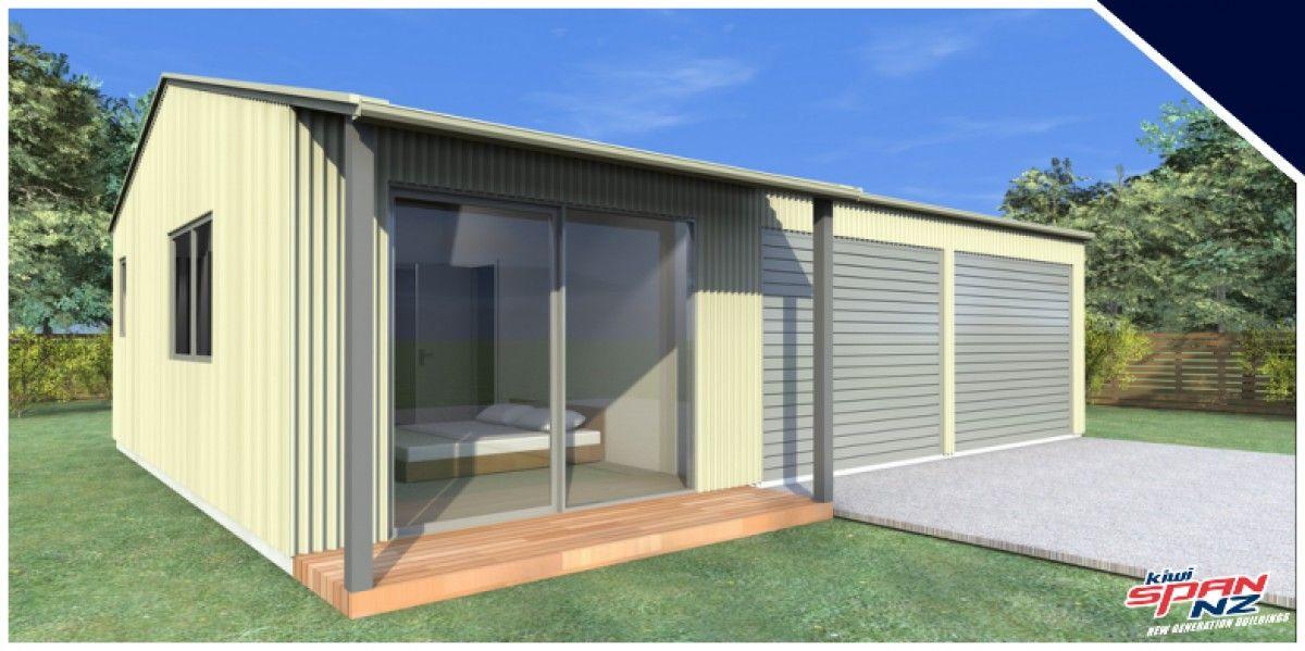 Double Garage with Sleepout KiwiSpanNZ Double garage