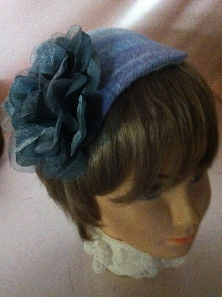 Lovely New Blue  Lavender Plaid Felt Fascinator  Unbranded  Casual  none da5e6721d72