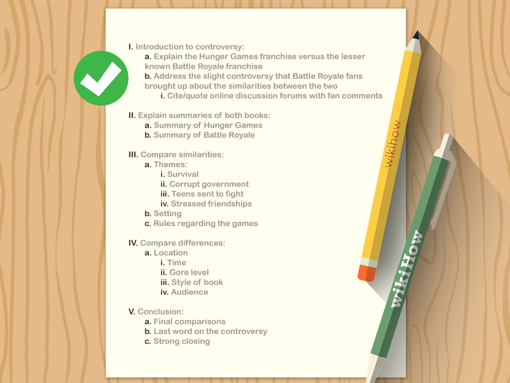 how to write an outline with free sample outlines wikihow