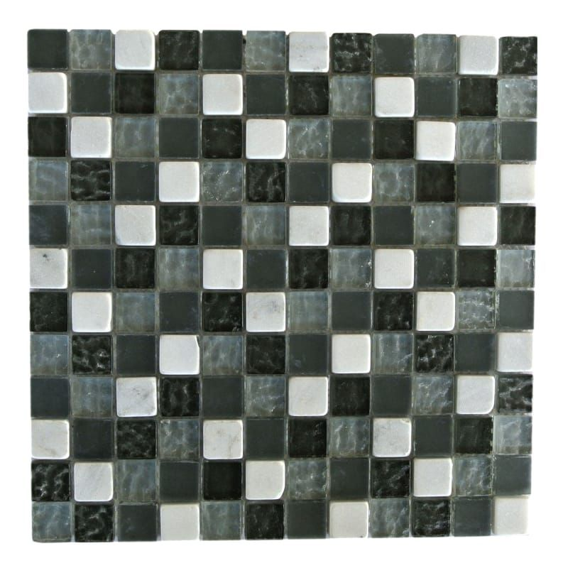 Miseno Mt Earth1sq Fg Fused Gray Earth 1 X 1 Glass Visual Wall Tile Sold By Sheet In 2020 Stone Mosaic Tile Stone Mosaic Mosaic Tiles