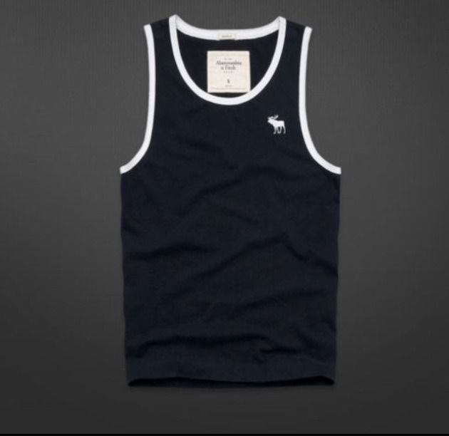 aae4d52a616a62 Abercrombie And Fitch Mens Tank Top Tahawus Mountain XL Blue