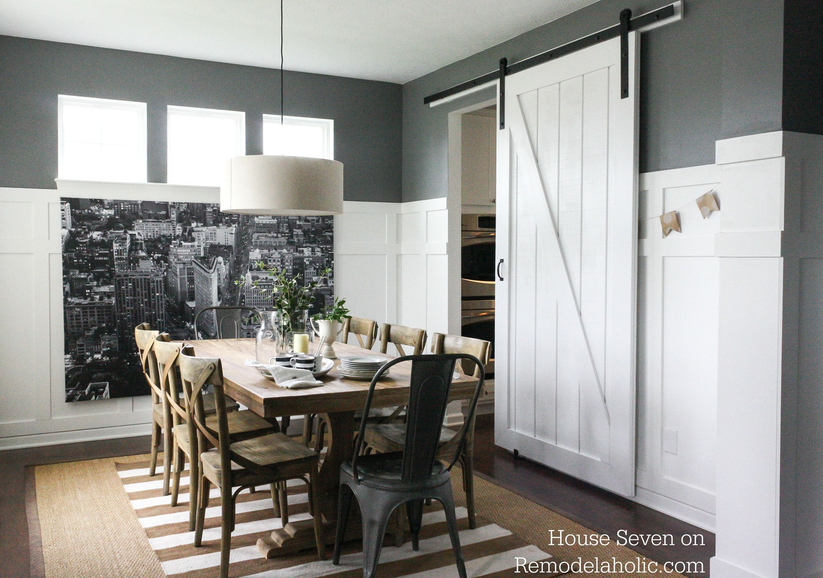 Adding style to your home with interior barn door dining room decor