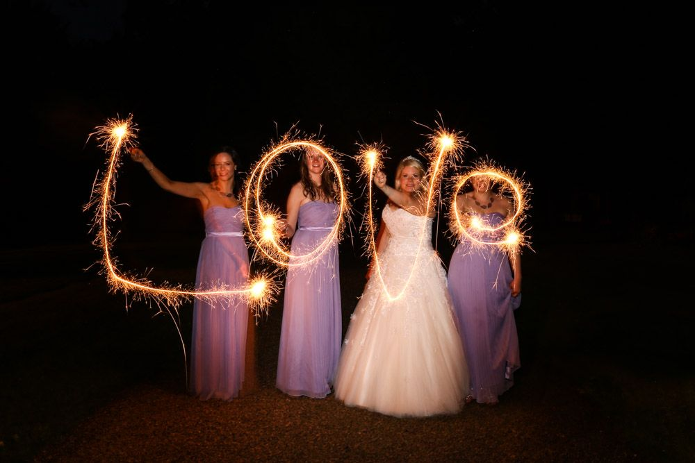 Sparklers At A Wedding Long Exposure Sparkler Photo Sparklers