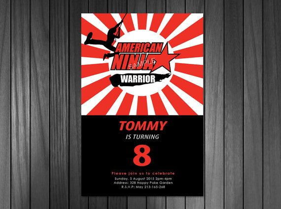 American Ninja Warrior Invitation American Ninja By