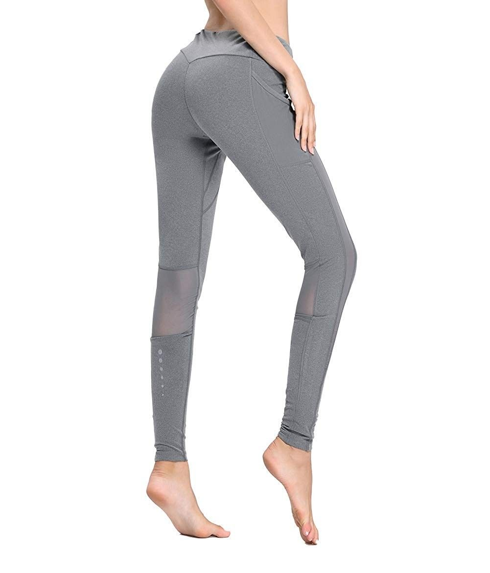 Women Ladies High Waist Sports Shorts Zipper Pants Running Gym Yoga Fit Bottom