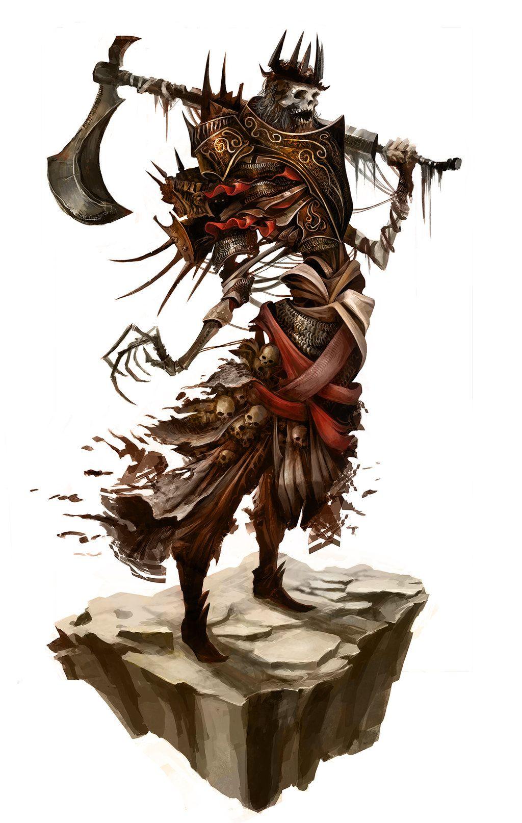 King Urgl', the Axe Butchor by Eyardt skeleton monster beast