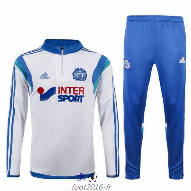 Nouveau survetement equipe de foot Marseille OM Blanc 2015 2016 pas cher