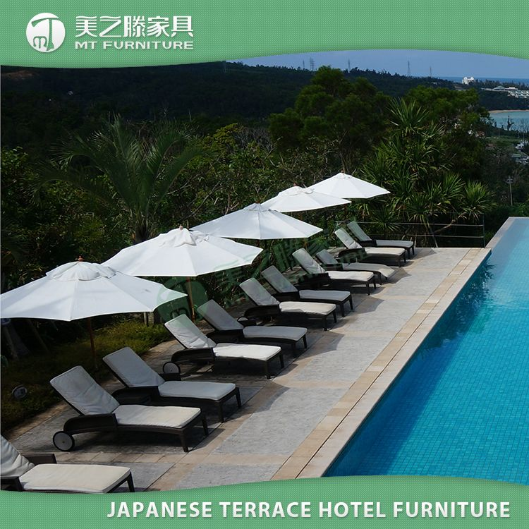 Japonés hospitalidad Terraza muebles de diseño moderno 100% piscina ...