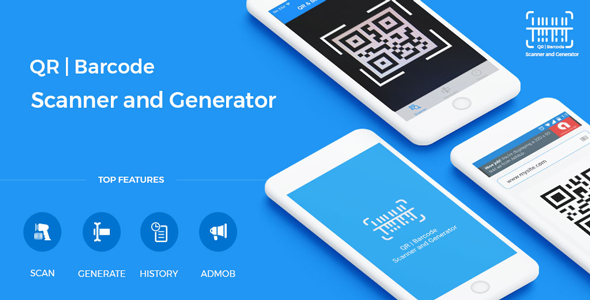 Qr Code Barcode Scanner And Generator For Ios Swift With Admob Barcode Scanner Mobile App Templates Banner Ads