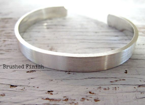 6cab27e369b Men's Cuff Bracelet, Father's Gift, Sterling Silver, Hand Stamped ...