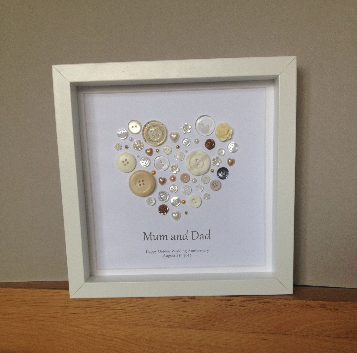 golden wedding anniversary button art 50th anniversary