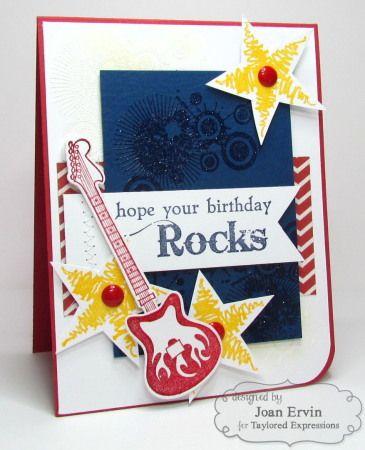 DONE -- Rock On guitar Birthday Card - PTI