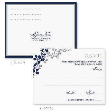 Wedding RSVP Postcard Template Instant Download EDITABLE TEXT – Word Postcard Templates