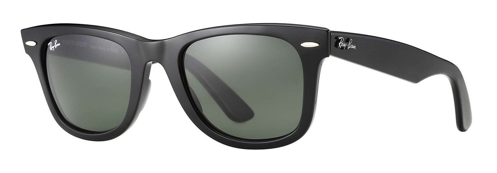 31fc2dba395 Ray Ban RB 2140 Original Wayfarer 901 Black Frame  Green Classic G-15 Glass  Lens