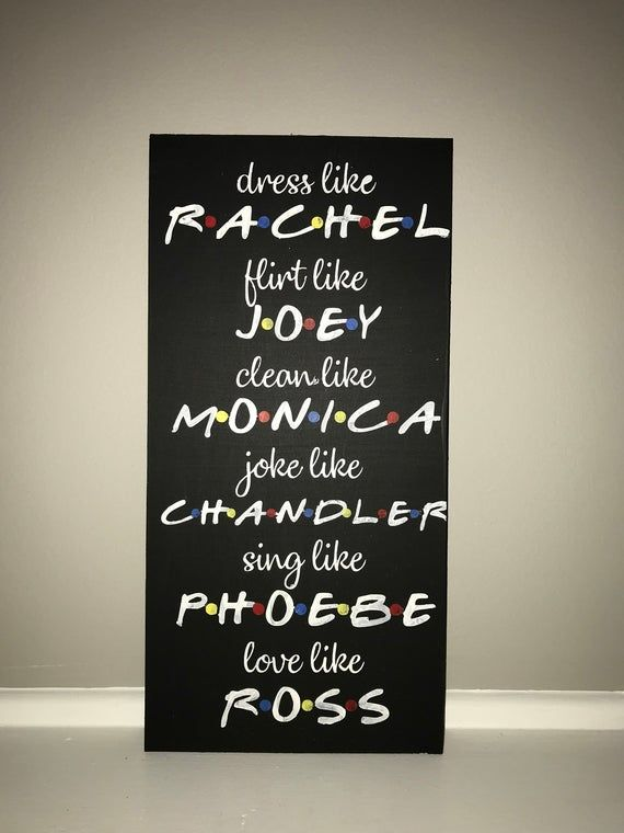 F.R.I.E.N.D.S TV show hand painted wooden board sign
