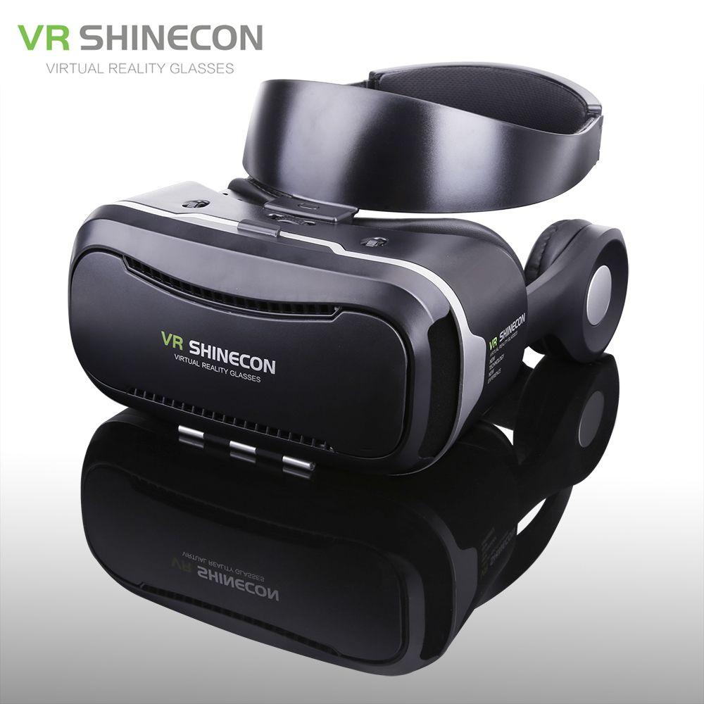 9dcc44439b30 Shinecon VR 4.0 Pro Virtual Reality Gear Goggles 3D Google Cardboard Gafas VR  Box Headset For