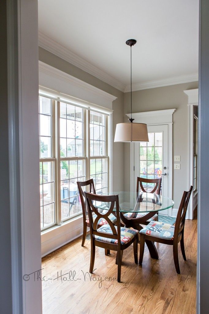 Kitchen with behr sculptor clay and silky white trim a - Behr vs sherwin williams interior paint ...