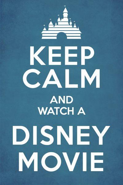 Mantenha calmo e assista filmes da Disney !!