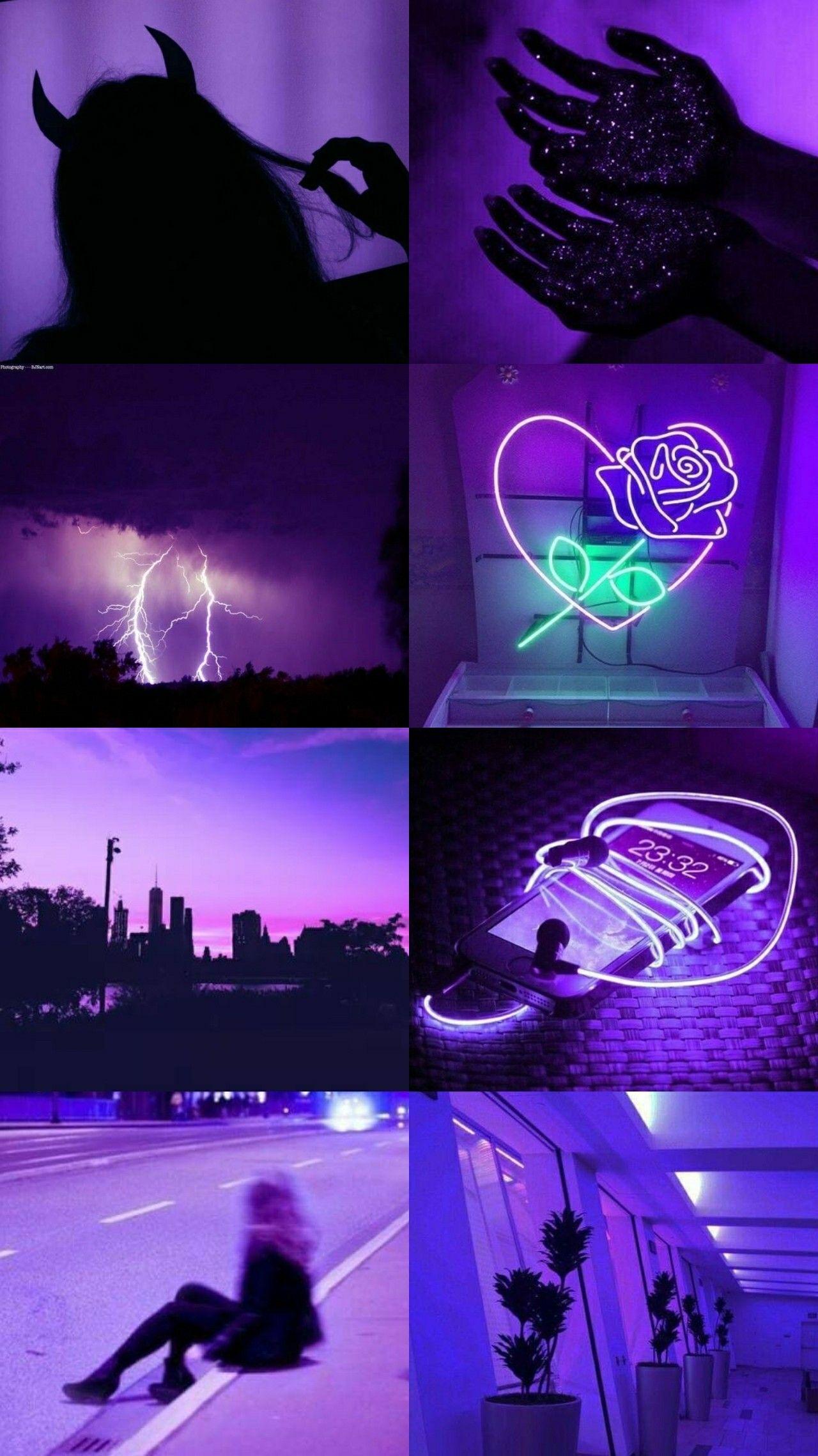 Wallpaper Aesthetic Dark Purple (With images) Dark
