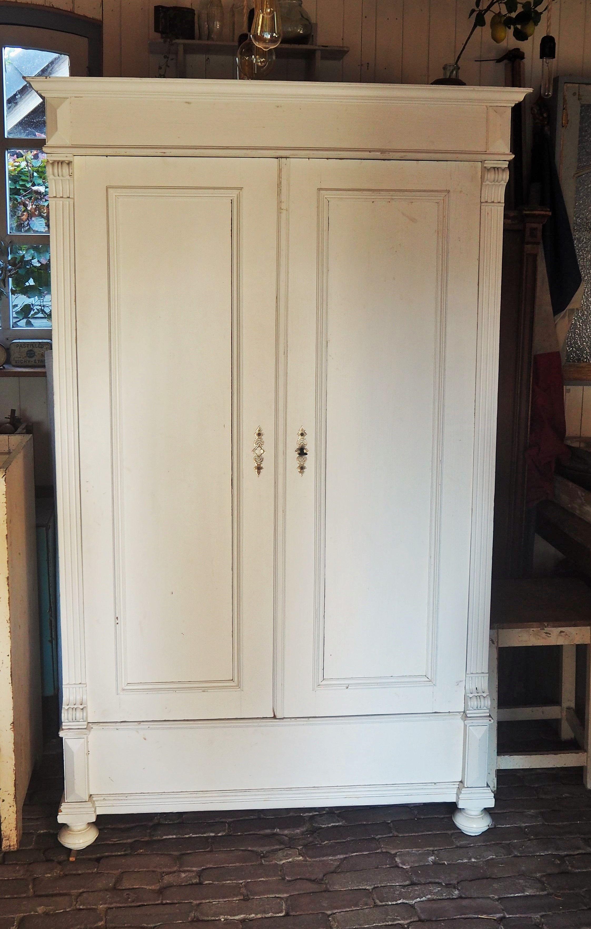 Antieke Witte Linnenkast.Oude Brocante Kast Witte Kast Brocante Kasten Webwinkel