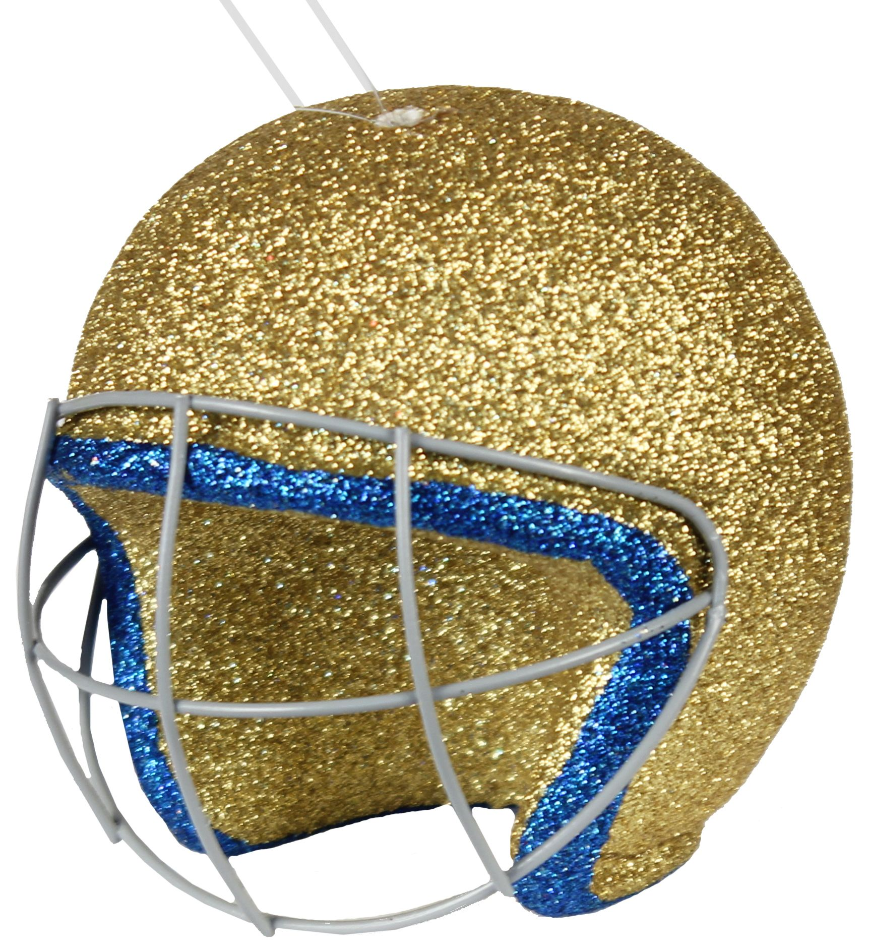 4 Football Helmet Ornament #Gold #Blue #Helmet #Football