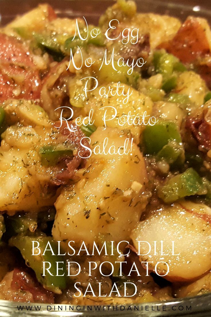 Balsamic Dill Red Potato Salad - Dining in with Danielle