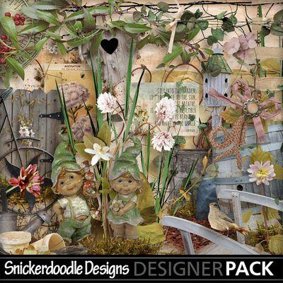 Garden Gate #SnickerdoodleDesigns #MyMemories
