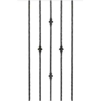 Best Round Hammered Iron Balusters At Wood Stairs By Lj Smith 400 x 300
