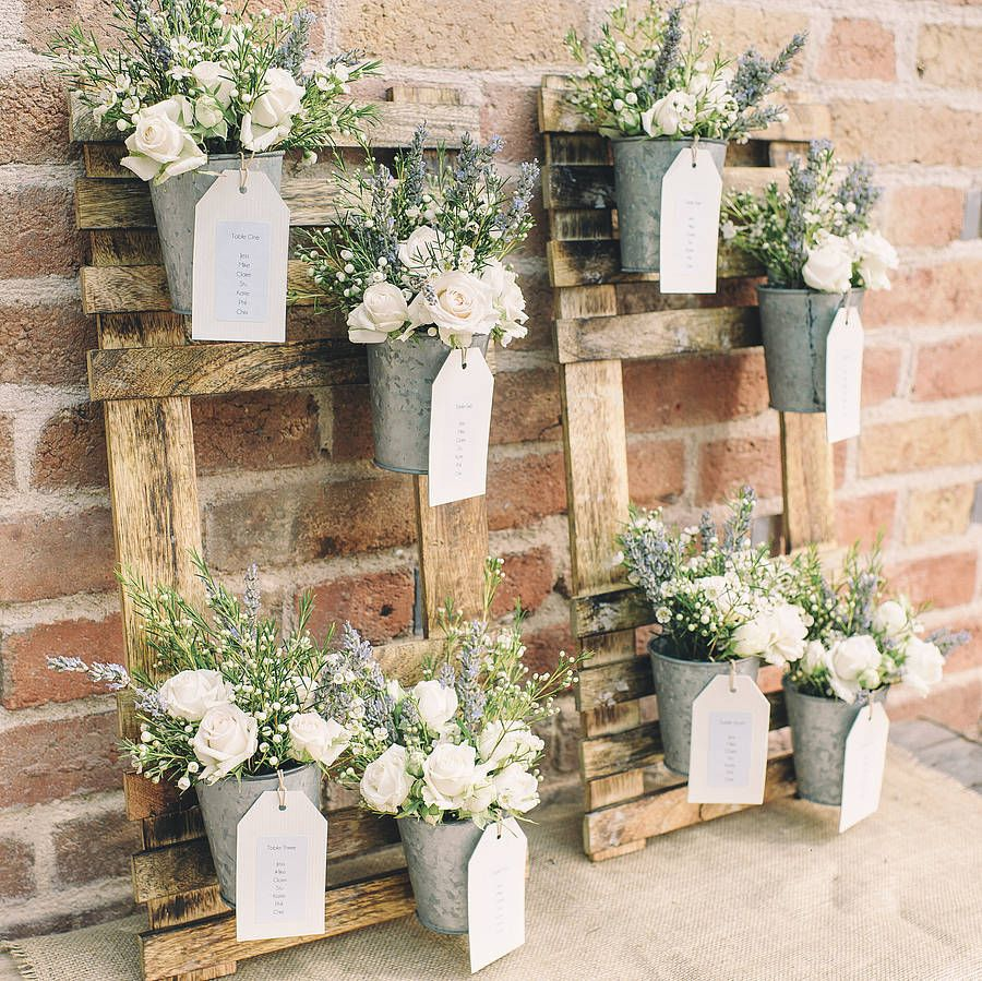 Wedding Table Design rustic wedding table plan with flower pots by the wedding of my dreams notonthehighstreet Rustic Wedding Table Plan With Flower Pots By The Wedding Of My Dreams Notonthehighstreet