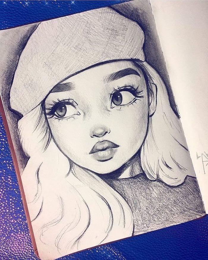 1001 + idées sur comment dessiner une fille – tutoriels et images – Cheveux