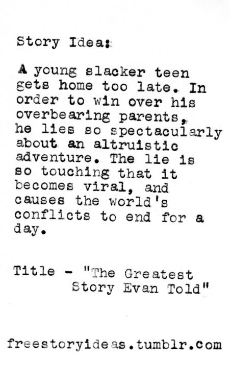 Tags: the greatest story ever told evan pun puns wordplay humor ...