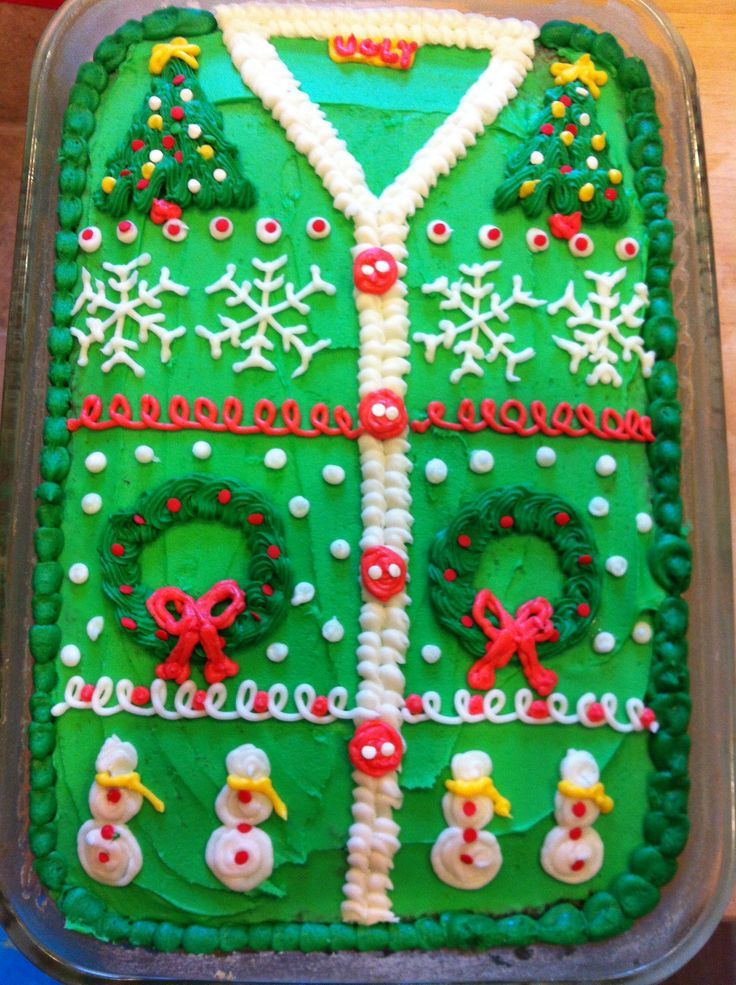 28 Ugly christmas sweater party ideas Cake, Holidays and Ugliest