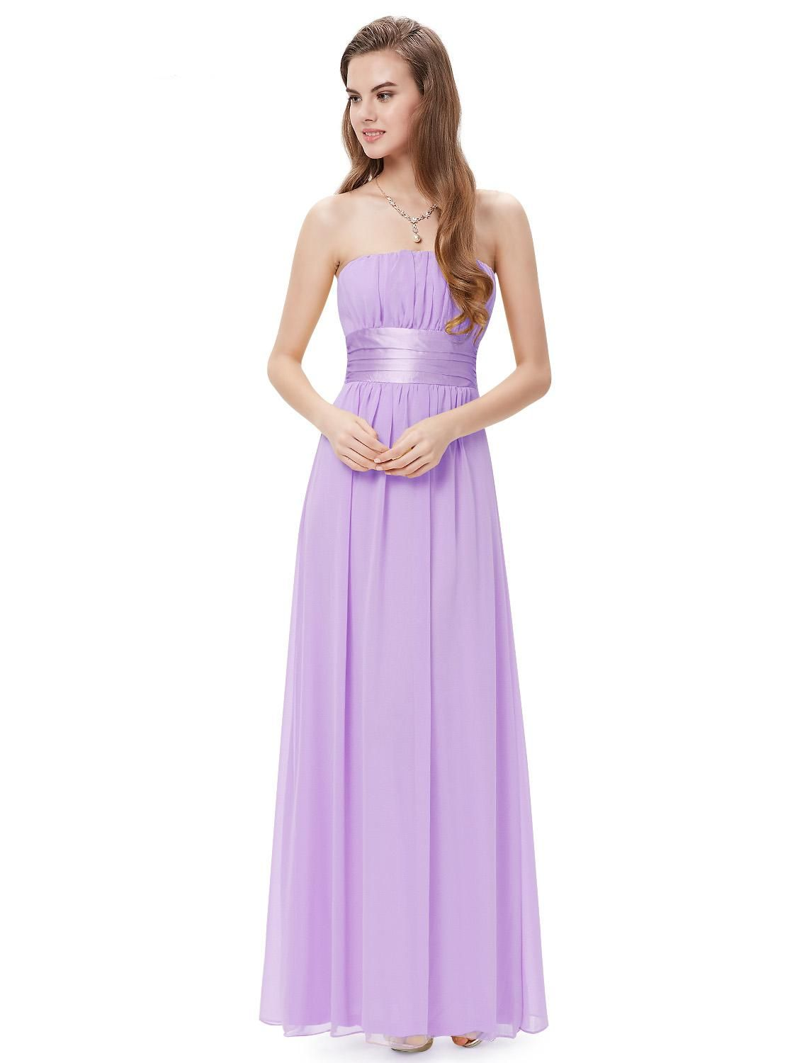 Light Purple Long Evening Party Bridesmaid Dress | Bridesmaid ...