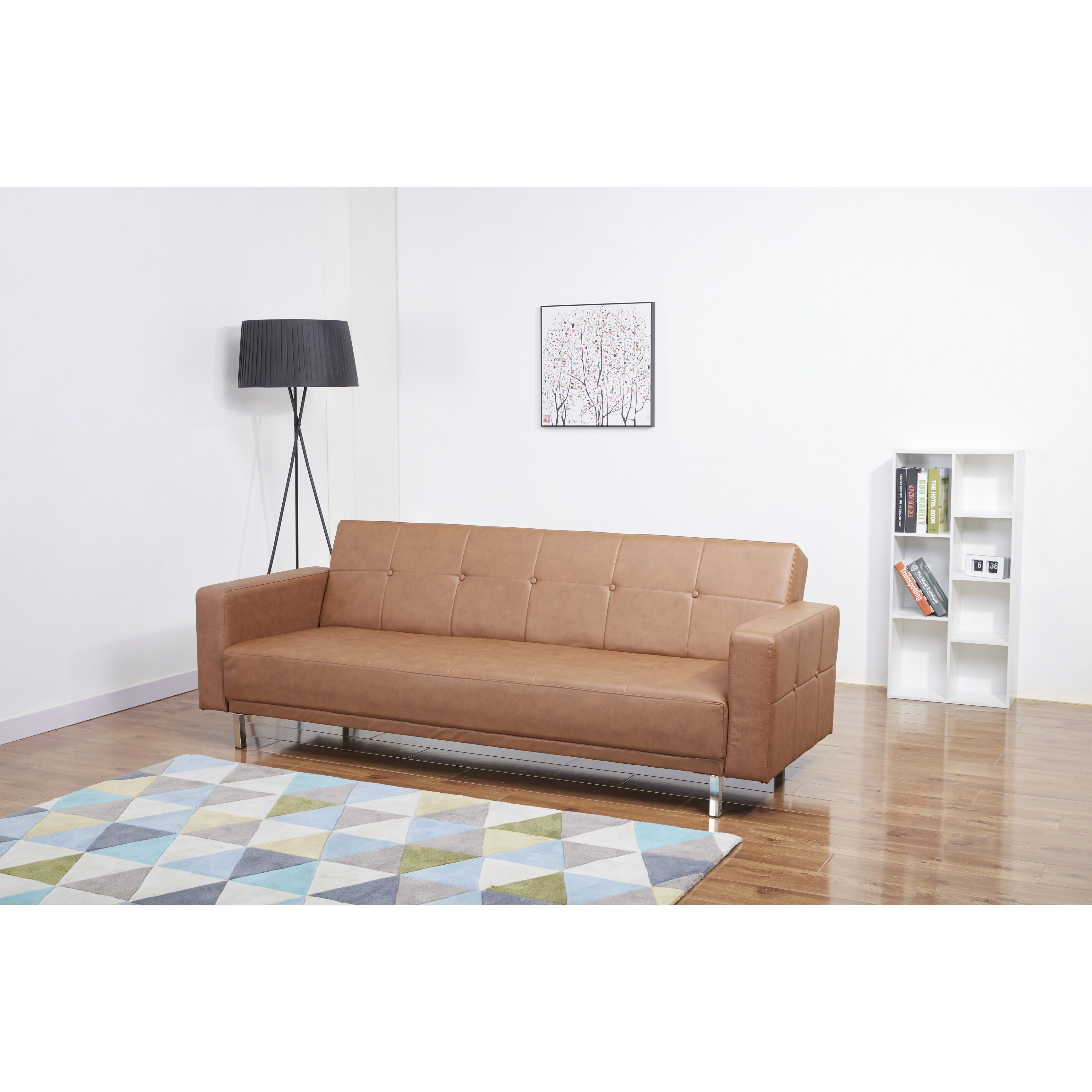 Cleveland Nutmeg Convertible Sofa Bed | Overstock.com Shopping - The ...