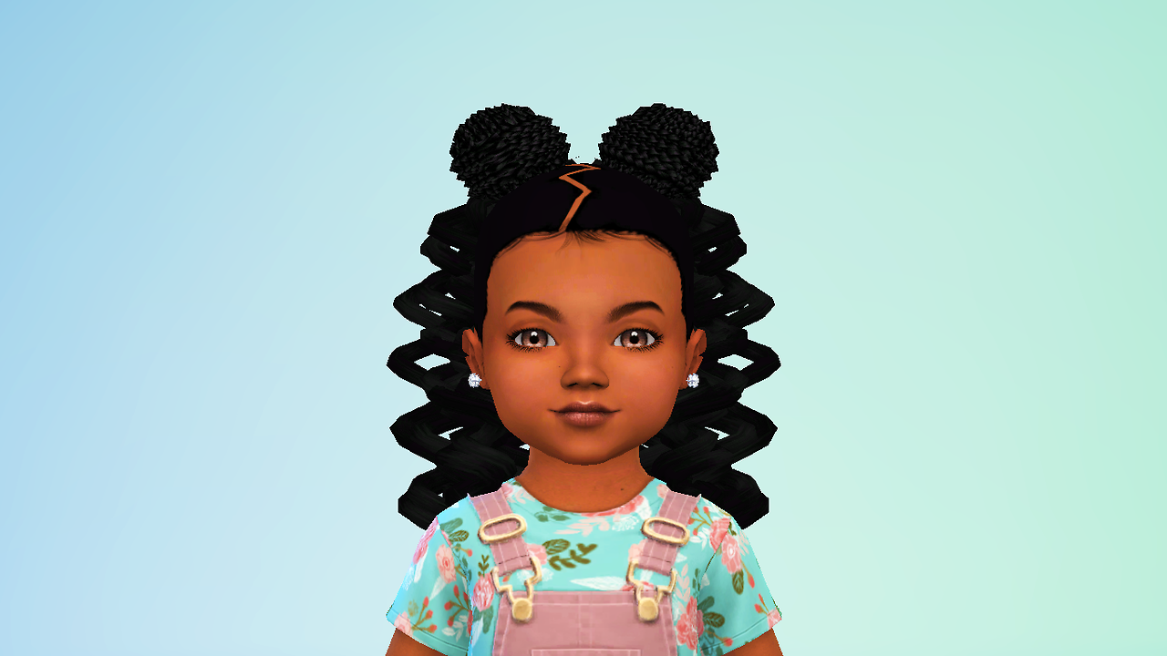 Lana Cc Finds Luvelynsweet Ncypooh S Curls N Top Knots Toddler Hair Sims 4 Sims Hair Sims 4 Children
