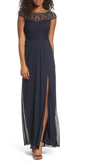 a295b08e4 Xscape Evenings Petite Women's Beaded Mesh Gown | Products in 2019 ...