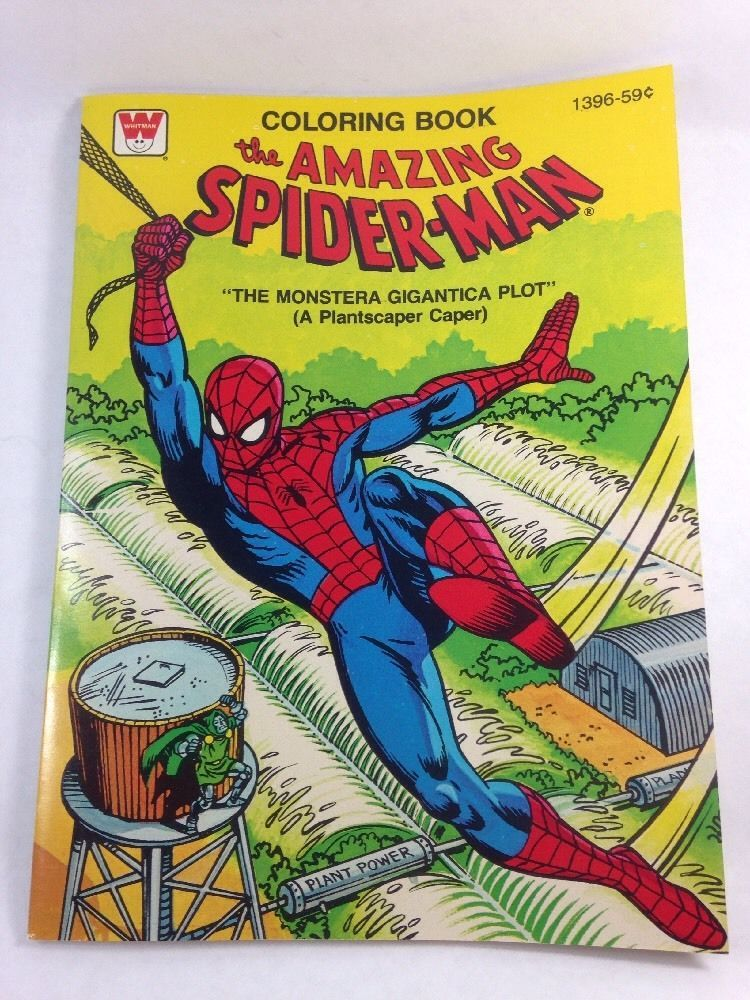 The Amazing Spider Man Coloring Book The Monstera Giantica Plot Good Condition Coloring Books Amazing Spider Spiderman