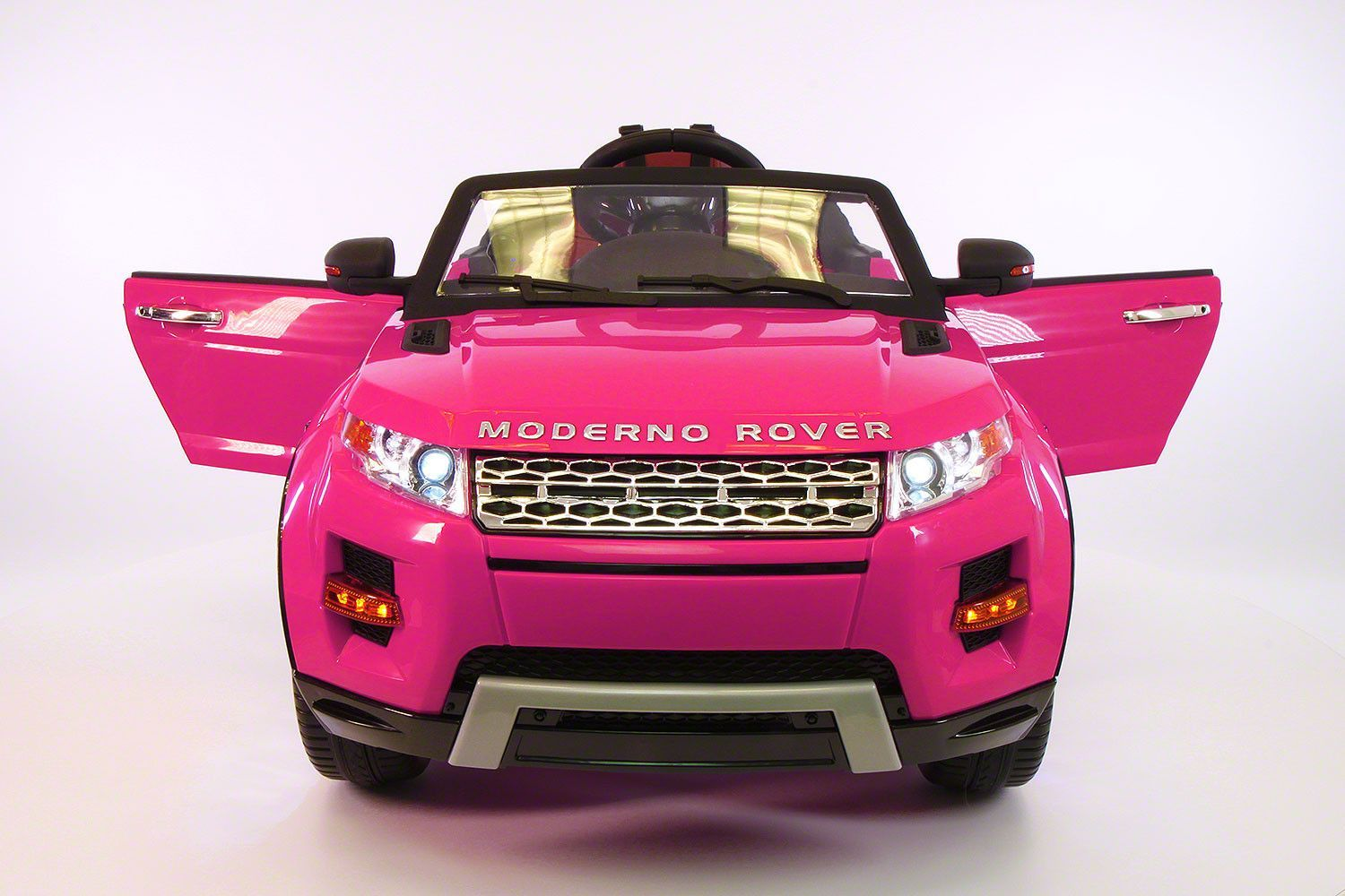 moderno rover 12v kids ride on car with rc parental remote pink